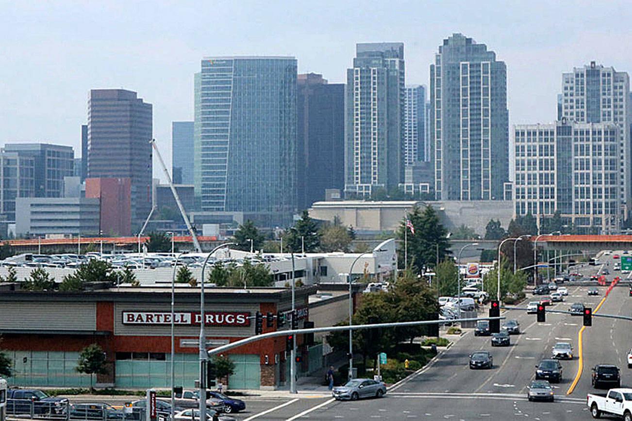 Bellevue skyline. Aaron Kunkler/staff photo
